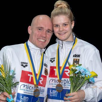 Florian Fandler holt Bronze im Mixed-Synchronspringen bei EM in Kiew