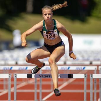 Kajsa Zimmermann bei den Deutschen Mehrkampfmeisterschaften in Vaterstetten