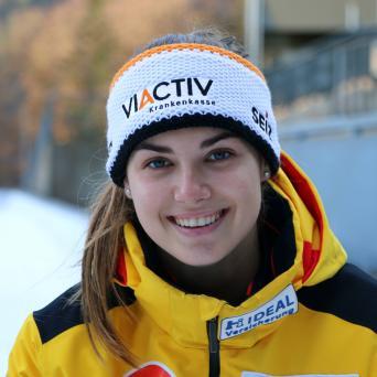 Kim Kalicki vom SV Halle mit Platz 2 beim Weltcup in Sigulda