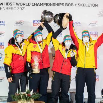 Weltmeistertitel für Margis und Schüller im 4er Bob