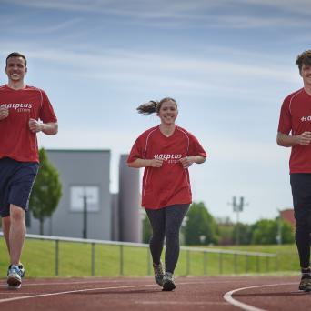Paul Biedermann, Paula Herzog und Rico Freimuth sind die Gesichter der Kampagne