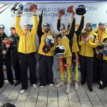 Alexander Schüller gewinnt EM-Bronze im Viererbob am Königssee 2019
