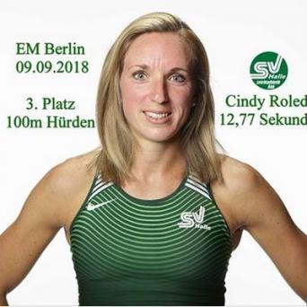 Cindy Rolder holt Bronze über 100 m Hürden bei der Europameisterschaft in Berlin 2018