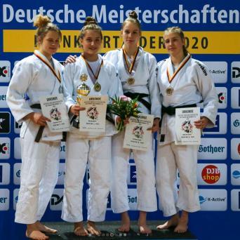 Friederike Stolze wird Deutsche Vizemeisterin in der U21 (Klasse bis 63 kg)