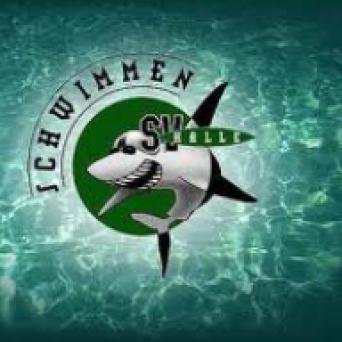 Logo der Saalehaie (SV Halle Schwimmen)