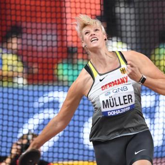 Nadine Müller mit achtem Platz im Diskuswurf bei der WM in Doha 2019